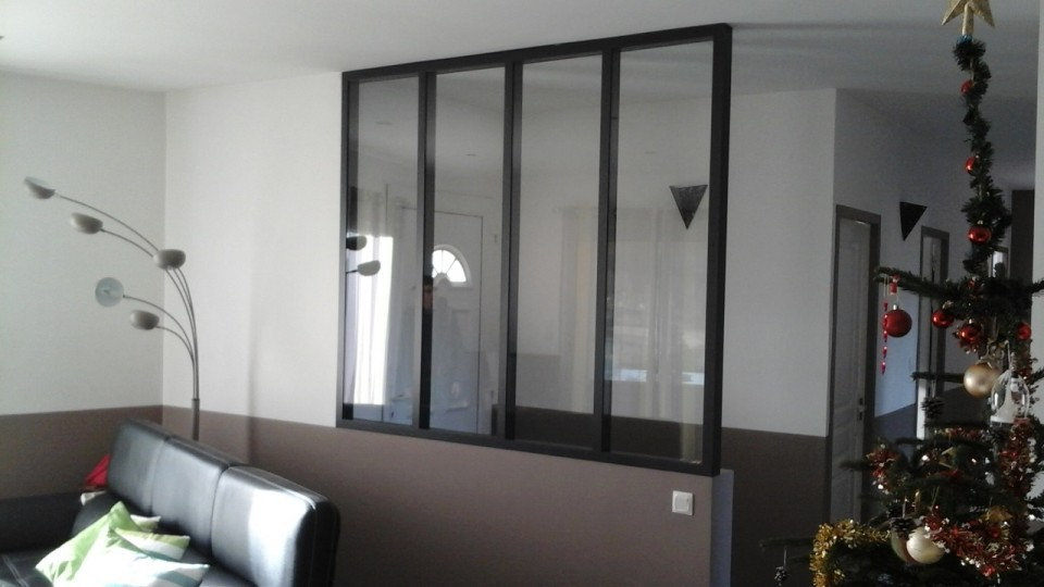 Menuiseries aluminium sarl baspeyras menuiserie for Cloison amovible atelier noir